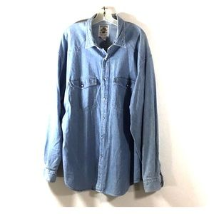 Banana Republic Western Chambray Pearl Snap Shirt